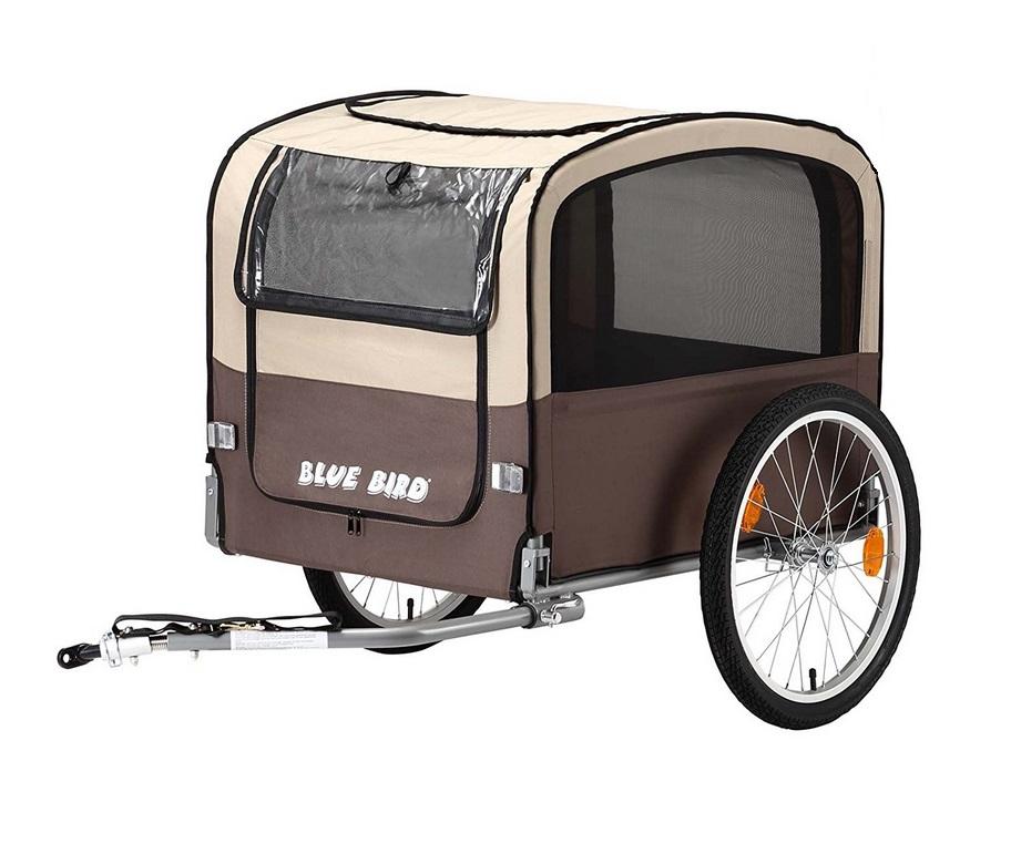 kranich blue bird hundeanh nger fahrrad anh nger f r den hund braun beige neu ebay. Black Bedroom Furniture Sets. Home Design Ideas