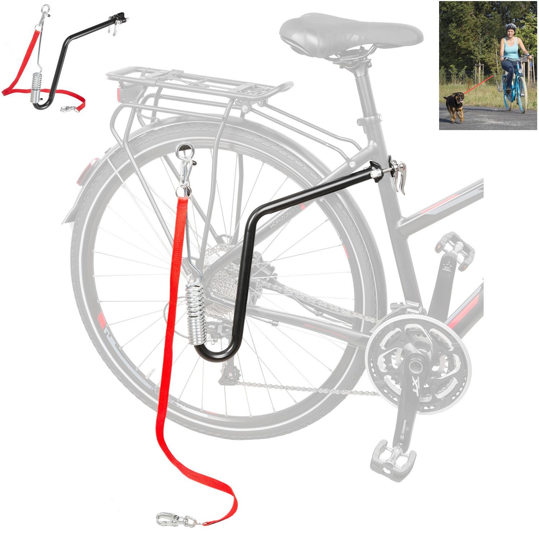 m wave fahrrad hunde leine mit flexibler federung hundeleine fahrradhalter. Black Bedroom Furniture Sets. Home Design Ideas