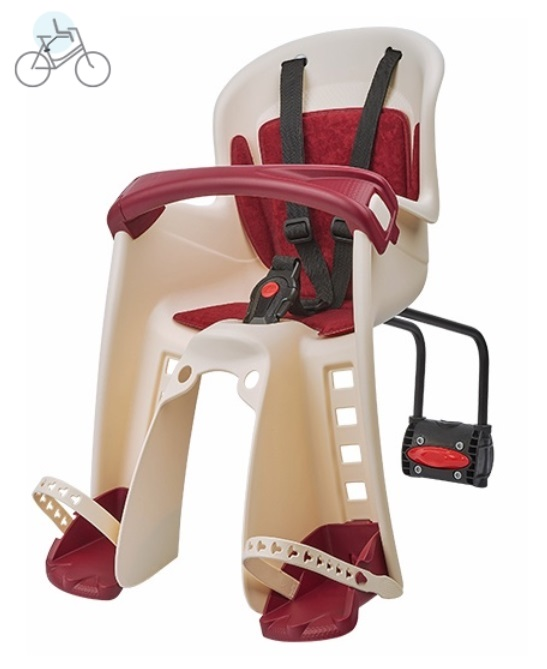polisport bilby junior creme bordeaux fahrrad kindersitz. Black Bedroom Furniture Sets. Home Design Ideas